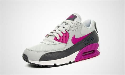 Sepatu Murah Nike Airmax90 11 cheap outlet womens nike air max 90 essential trainers platinum fuchsia flash grey