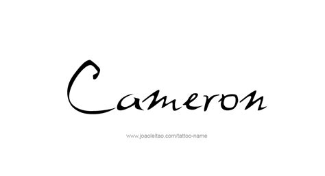 cameron tattoo designs cameron name designs