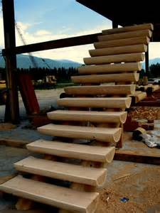 Log Home Stairs by Log Stairs Stairs Pinterest