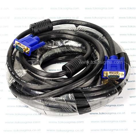 Kabel Vga Db15 Rgb Pin 15 To High Quality kabel vga 15mtr howell m m toko sigma
