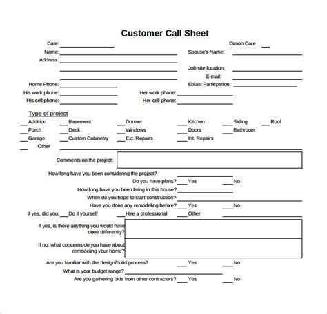 call sheet template 11 free documents in word pdf