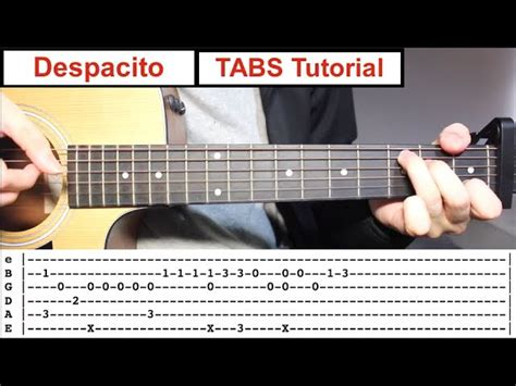 tutorial fingerstyle despacito fingerstyle tabs guitar lesson tutorial how