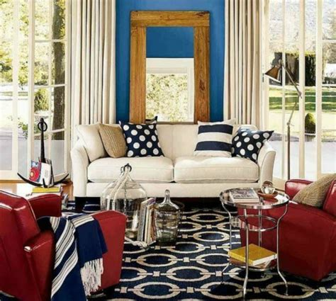 red and blue home decor striped decoration ideas imagine your homes