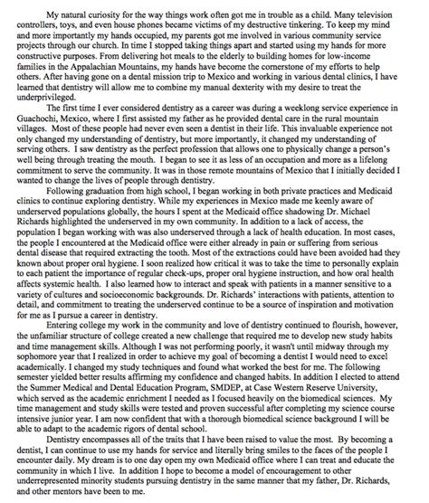 Dental School Essays by What Makes A Great Personal Statement Pt 3 Of 3 Dat Bootc