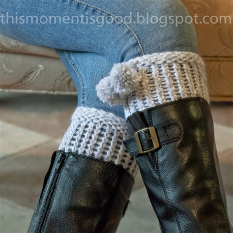 loom knitting by this moment is loom knit boot cuff