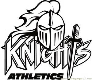 knights logo 2bw coloring free knights coloring pages coloringpages101