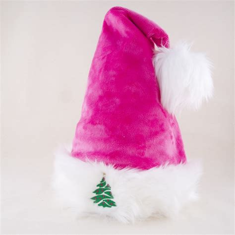 santa cool hat in pink with retro ornament hoho hats