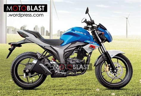 Half Fairing New New Megapro Biru striping suzuki gixxer 155 2014 motoblast