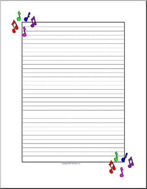song writing paper writing paper elementary abcteach