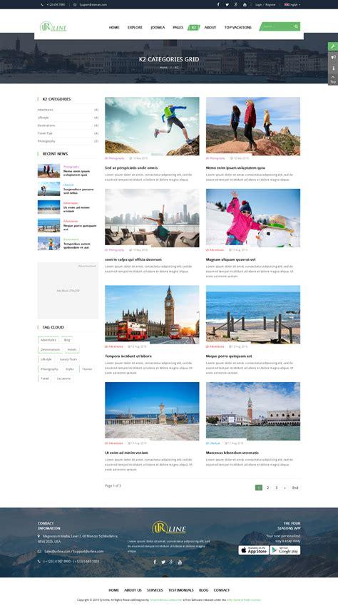 joomla category blog layout template urline responsive travel news joomla template by