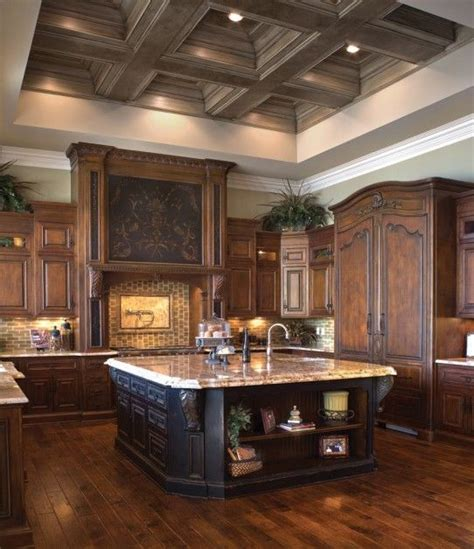 dream home decor beautiful dark wood kitchen dream home pinterest