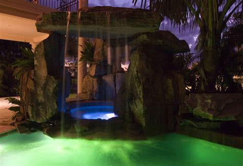 natural stone swimming pool waterfalls top ten grotto lagoon pool with tall grotto and natural stone waterfall
