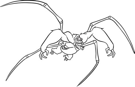 ben 10 coloring pages spider monkey ben 10 coloring pages ultimate spidermonkey coloringstar