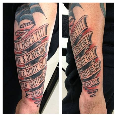 tattoo background for words 60 banner tattoos for men waving word ink design ideas