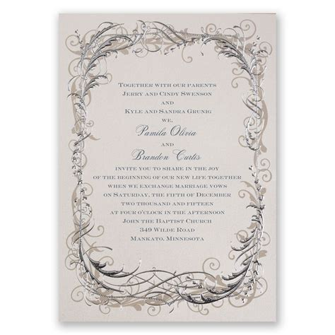 The Wedding Invitation by Vintage Shine Invitation Invitations By