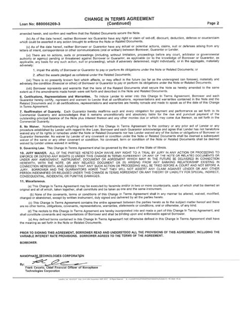 section 32 contract contract by nanophase technologies