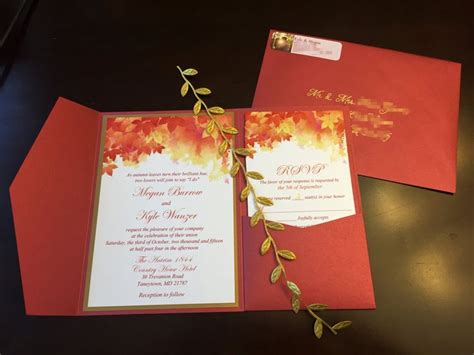 fall leaves wedding invitation kits 193 best images about autumn wedding on autumn