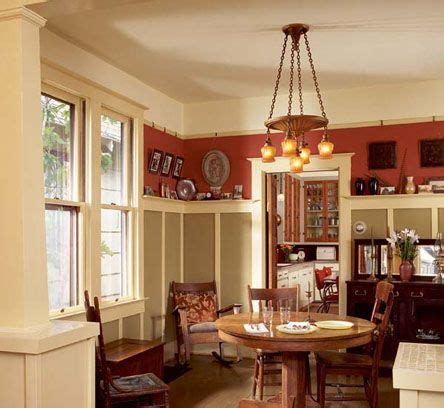 finished wall bungalow dining room craftsman dining