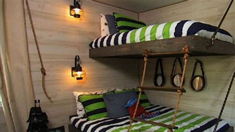 Suspended Bunk Beds Diy Suspended Bunk Beds Knock It The Live Well Network