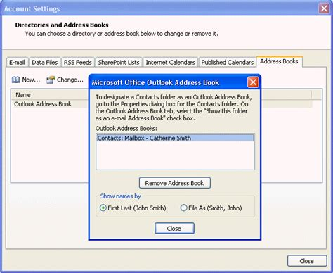 Outlook Address Book Search Outlook Contact Address Book Options