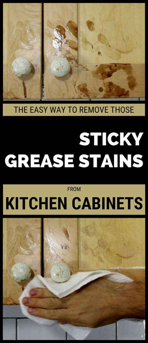 how to remove water stains from kitchen cabinets the easy way to remove those sticky grease stains from