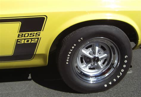 1969 mustang magnum 500 wheels bright yellow 1969 302 ford mustang fastback