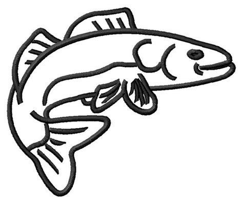 walleye coloring pages walleye outline embroidery