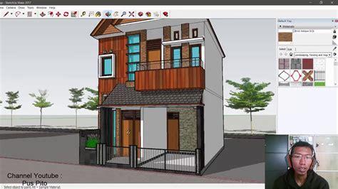 desain rumah cantik ukuran   lantai  kamar tidur