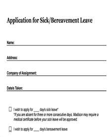 sick form template termination template form sick leave employee