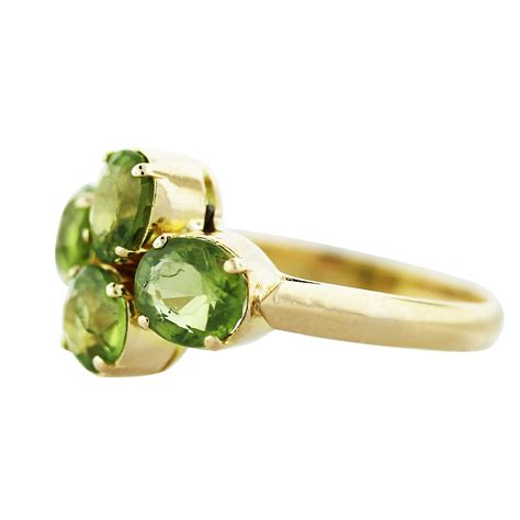 Ring Peridot 18k yellow gold peridot ring