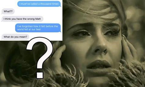 adele on ex boyfriend adele s hello lyrics were texted to this girl s ex