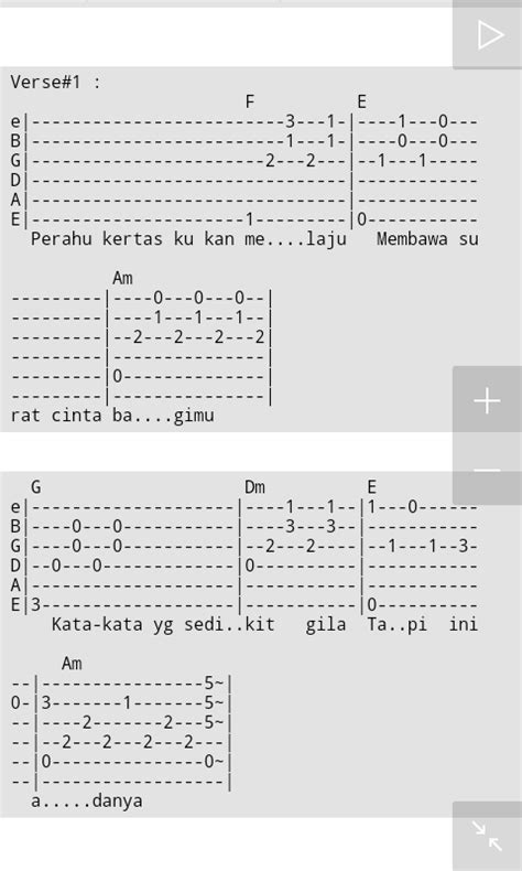 tutorial gitar maudy ayunda full edition tab maudy ayunda perahu kertas ost