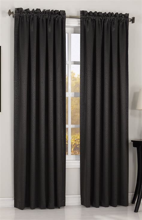 Black And Curtains Xaire Blacout Curtain Panel Black Lichtenberg View