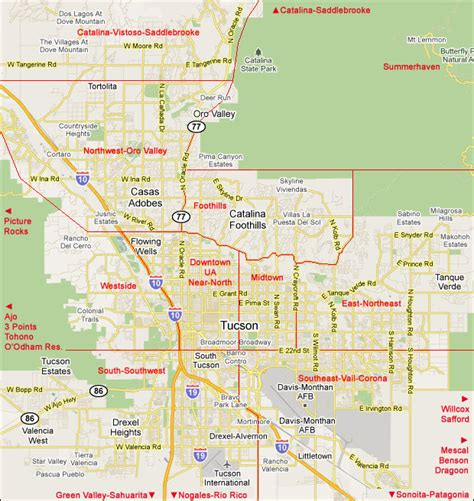 printable zip code map of tucson az tucson zip code map 2017 2018 best cars reviews