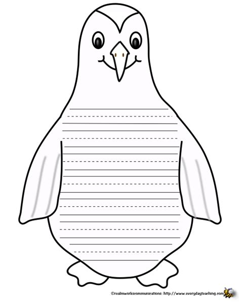 penguin writing paper template for a winter hat new calendar template site