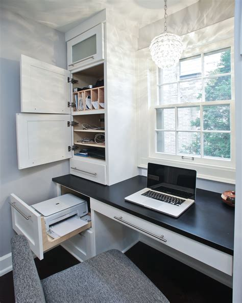 desk with printer space hidden areas for printer charging station mail etc i