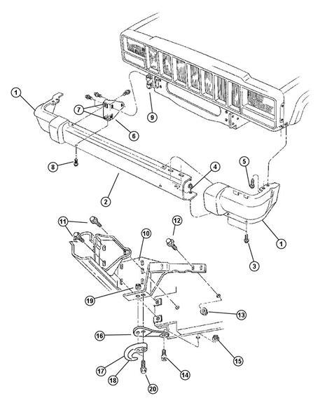 jeep parts diagram 2000 jeep sport front end parts diagram jeep