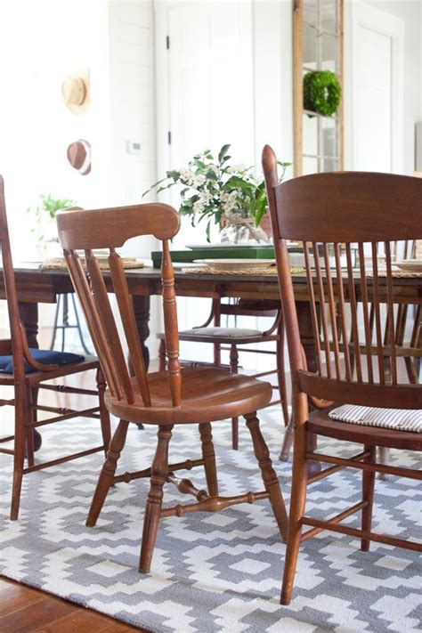 Dining Room Rug Homespun Trellis The Lettered Cottage Cottage Dining Table And Chairs