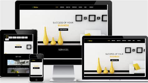 responsive bootstrap template free interior design website