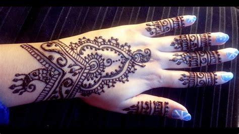 pretty indian henna easy stylish mehendi design tutorial  latest henna design  youtube