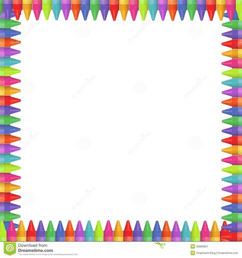lined paper with crayon border crayon clipart page border pencil and in color crayon