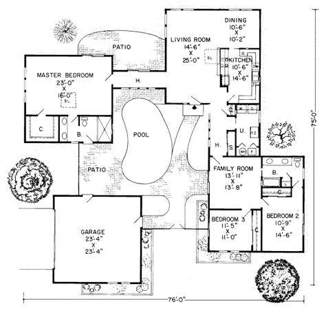 house plan rectangle with courtyard u shaped house plans with central courtyard google