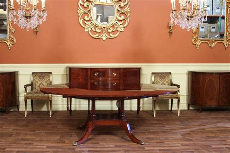 high end dining tables round to oval mahogany dining table high end designer ebay