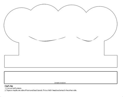 printable chef hat template 8 paper hat templates designs free premium templates