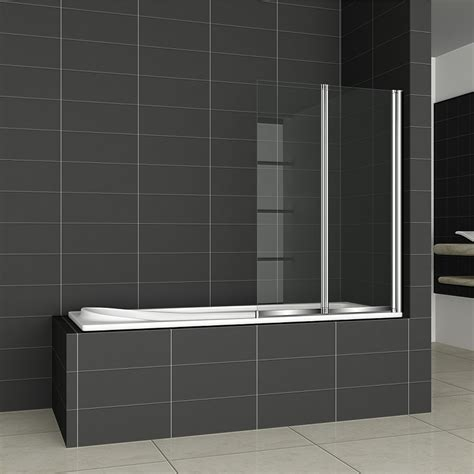 glass shower screens for baths 1 2 3 4 5 fold pivot folding bath shower screen 1400 glass door panel seal ebay