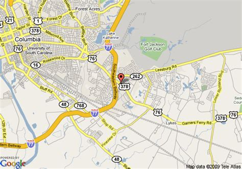 map of comfort inn and suites ft jackson maingate columbia