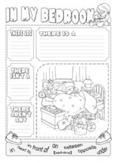 Bedroom Description Exercises Esl Worksheets For Beginners In My Bedroom There Is