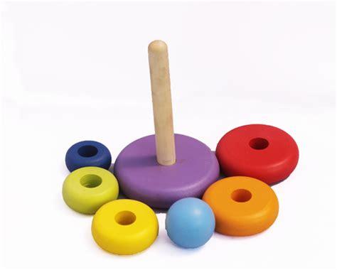 Mainan Edukasi Menara Donat Pelangi Menara Donat Pelangi Mainan Kayu