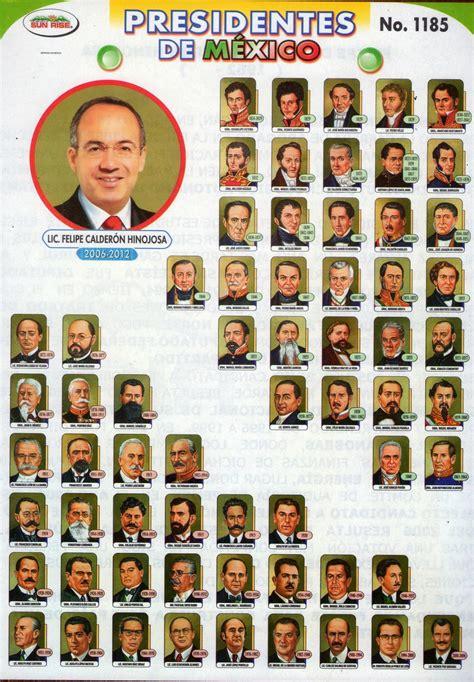 lista los presidentes de mexico historiador texmelucan presidentes de m 233 xico siglo