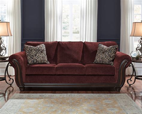 Burgundy Loveseat by Chesterbrook Burgundy Sofa Sofas Living Room Furniture